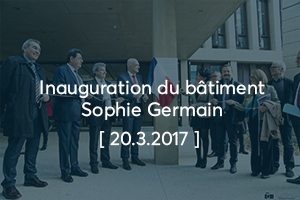 Inauguration Sophie Germain